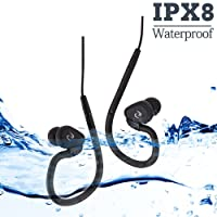 Sewobye 100% waterproof swimming headphones with 3 type earbuds for sort of sports(P.s:Only waterproof headphones without mp3 player) …