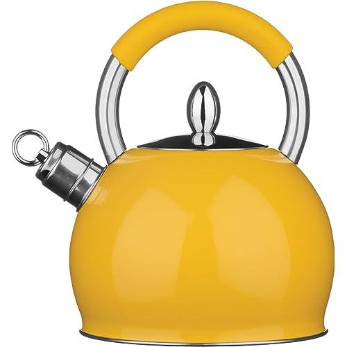 Premier Housewares 3 Litre Whistling Kettle – Yellow