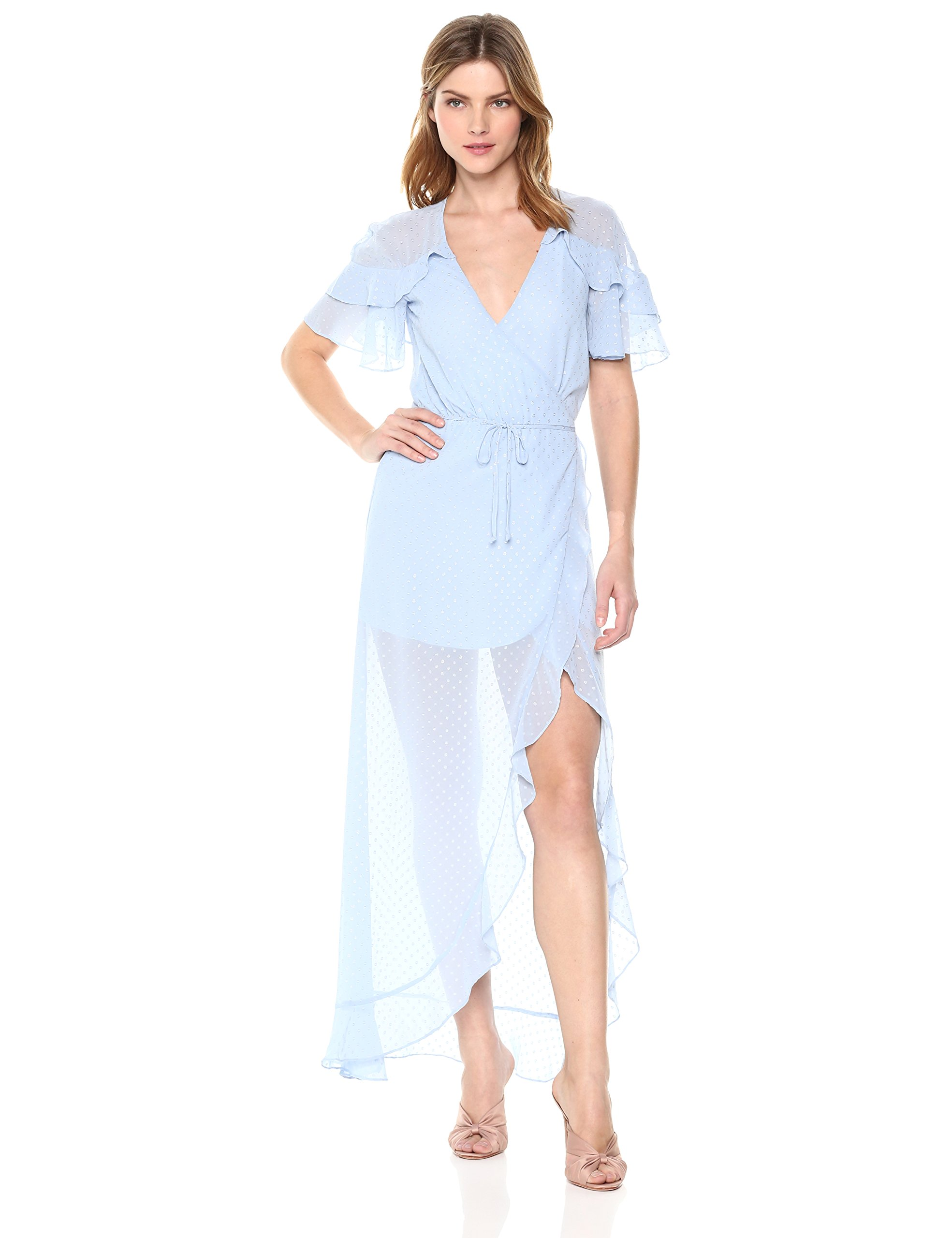 For Love & Lemons Women's La Simone Midi Dress, Sky, M