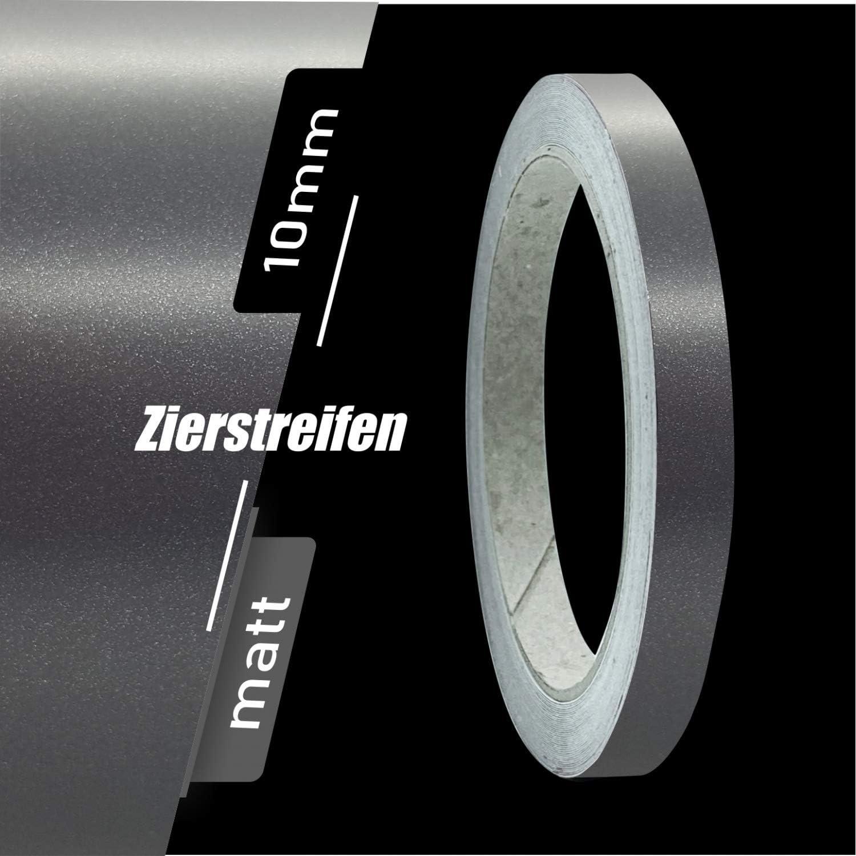 Siviwonder Zierstreifen Matt wei/ß 7mm Aufkleber L/änge 10m Auto Boot Klebeband Sticker White