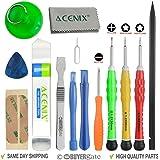 ACENIX® Most Complete Premium Repair Tool Kit for Apple iPhone 4, 4S, 5, 5C, 5S, 6, 6 Plus, 6s, 6s Plus, iPad 4, 3, 2, iPad Mini, iPods & Many More [14 Pieces]