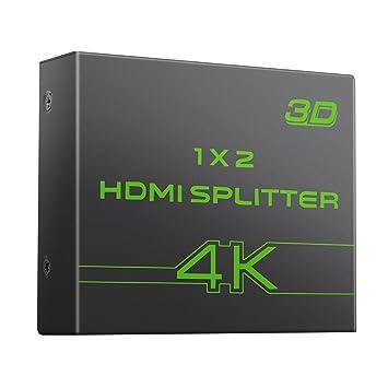 AUTOUTLET 2 vías HDMI Splitter Ultra HD 4K x 2K HDMI Amplificador ...