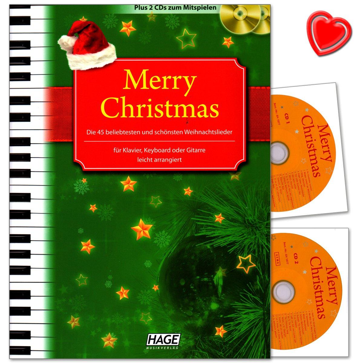 Merry Christmas! - 45 beliebtesten und schönsten Weihnachtslieder ...