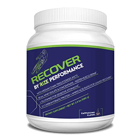 Rize BCAA MCT Recovery Powder for Cyclists, Runners, and Athletes – All Natural Post Workout Muscle Recovery Supplement – Cappuccino 2.4 lbs