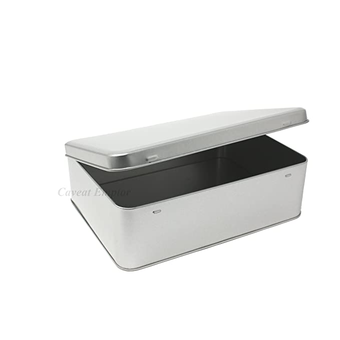 Lata de metal grandes 2,2 L) con tapa de bisagra de caja Fragrance - Bote para galletas Bote grande retro caja de metal latas para galletas Galletas ...