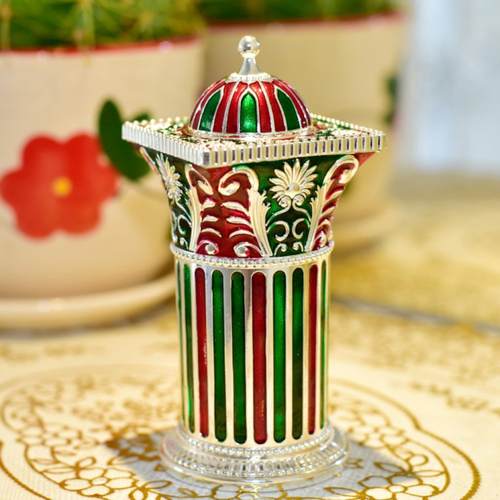 Wang's Continental alloy color toothpick Hand automatic toothpick box Home Hotel accessories-D