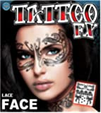 Temporary Face Tattoos - Beautiful Lace Face with BeWild Balloon