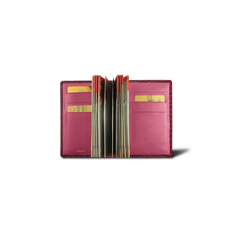 Lucrin - Protège passeport Luxe - Fuchsia - Veau Façon Crocodile B00SYIXOM6 フクシャ