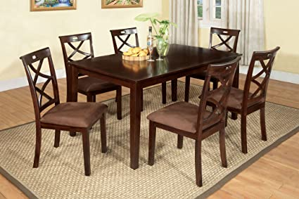 Charmant Baxter Dark Walnut 7 Piece Dining Table Set