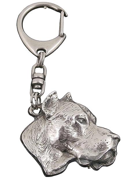 Dogo argentino, llavero del perro, ArtDog: Amazon.es: Joyería