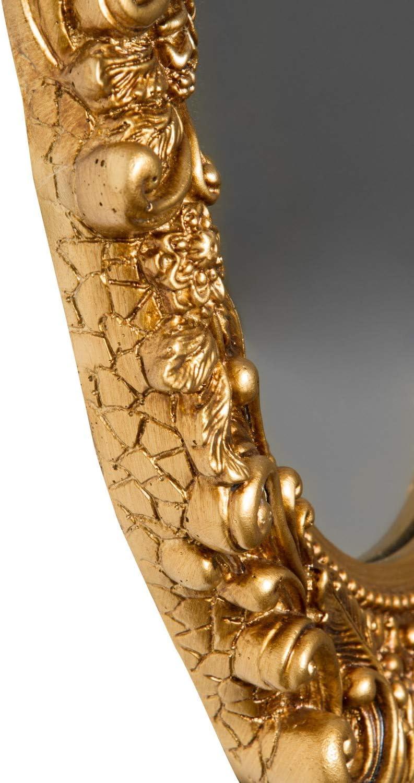 Espejo Oval barroco espejo barroco dorado espejo de pared en la parte superior del espejo para el ba/ño con dise/ño de /ángel