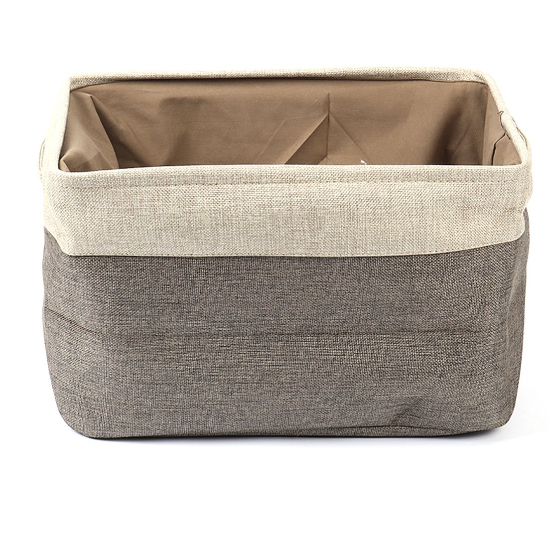uxcell Collapsible Fabric Storage Basket w Dual Handles, Foldable Canvas Toy Bins for Laundry Clothes Storage Home Organizer for Bedroom Office, Closet, Kitchen & More (Gray, S) a16122800ux1371