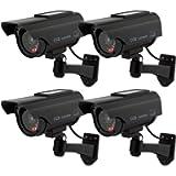 TOROTON Bullet Dummy Fake Surveillance Security CCTV Solar Powered Camera Simulation Monitor with LED Flashing Light…