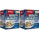 Kelloggs Mini-Wheats Cereal, Original, Jumbo Size, 1.2 kg (2 Pack)