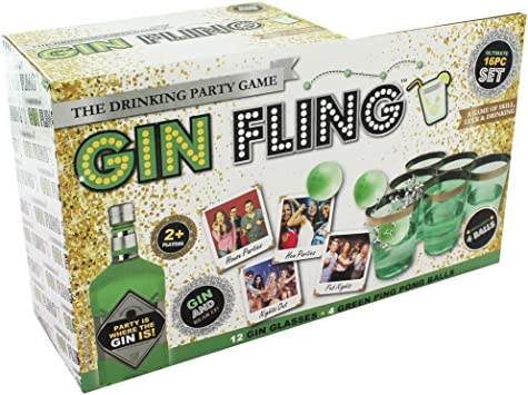 Pms Gin Fling Drinking Game In Printed Box Amazon Co Uk Toys Games