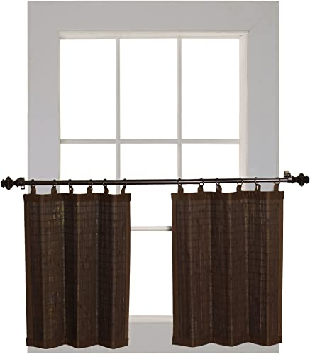 Bamboo Ring Top Curtain FBA_BRP064824-93 amboo Ring Top Curtain BRP06, 48 L x 24 H, Espresso