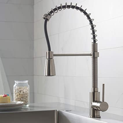 Kraus Kpf 1612ss Single Lever Pull Down Kitchen Faucet In Stainless