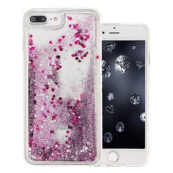 coque iphone 7 paillettes liquide silicone