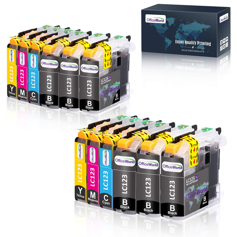OfficeWorld Cartuchos de tinta para Brother LC123 DCP-J152W, J172W ...