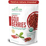 Alovitox Organic Goji Berries 16 oz | Raw, Vegan, Gluten Free Super Snack High in Plant Based Protein, Dietary Fiber, Vitamin A & Iron | Large Berries for Eating, Trail Mixes, Smoothies and Salads