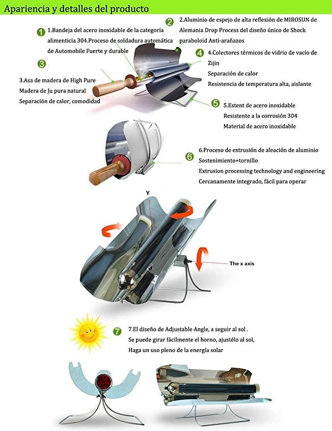 ... BBQ Portable Solar Cooker BBQ Stove Food Grade Smokeless Folding Stainless, Easy Delicious and Versatile for 3-5 People: Sports & Outdoors