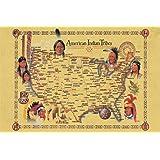 Amazoncom Native American Tribes Map US History Classroom