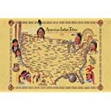 Amazoncom Native American Tribes Map US History Classroom - Indian tribe map of us