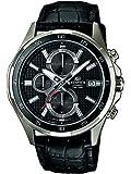 CASIO EFR-531L-1A - Reloj analógico de cuarzo con correa de cuero para hombre, color negro