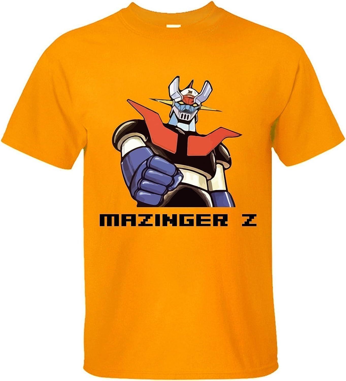 Cool Mazinger Z Logo Custom Black T-shirt USA Size Men/'s