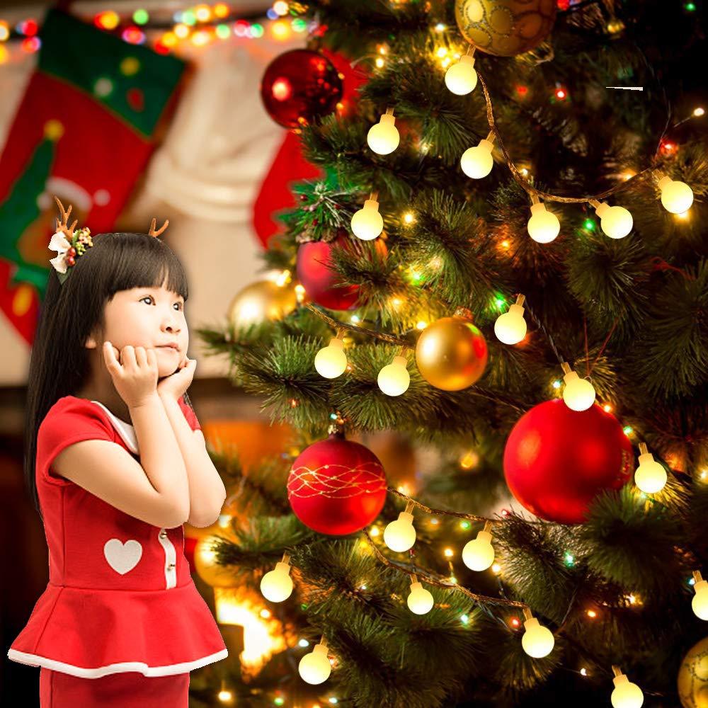13M 100LED catene luminose stringa luci impermeabili IP65 Bianco caldo compleanno 8 modalit/à dilluminazione patio giardino ecc. matrimono Lucine decorative 29V UL a corrente per Natale