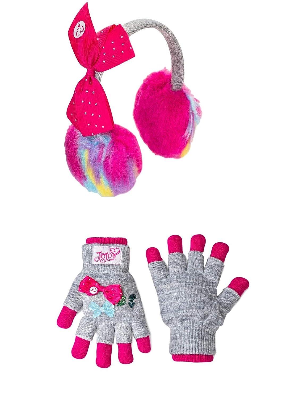 Girls Jojo Siwa Earmuff and Glove Set Cold Weather Winter 2 pc