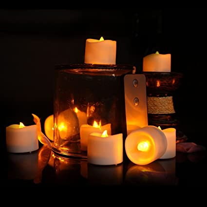 Birthday Candles Flameless With Remote Wave Open Realistic Battery Operated LED Tealights Candle For Wedding