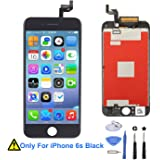 iPhone 6S Screen Replacement,EXW Retina LCD Display Screen Digitizer Frame 3D Touch Screen for iPhone 6S 4.7 Inch with Full Set Repair Kit (Black)