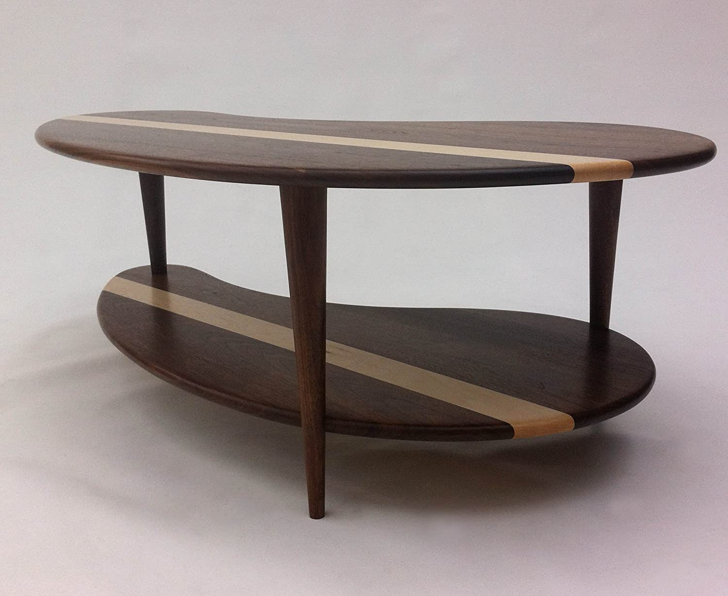 Astonishing Amazon Com Mid Century Modern Coffee Cocktail Table Solid Andrewgaddart Wooden Chair Designs For Living Room Andrewgaddartcom