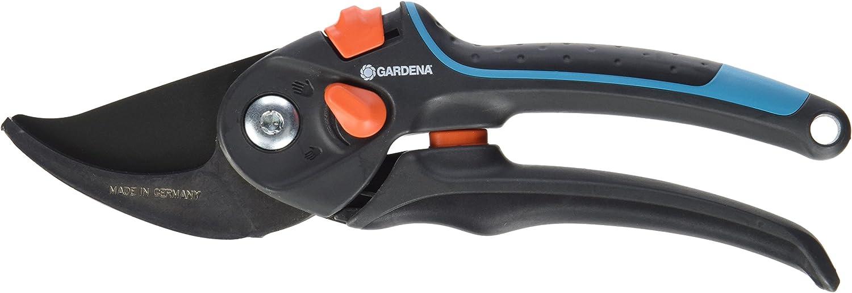 Gardena 8902-20 - Tijeras de jardín B/S XL podadera cuidadosa con Las Plantas, Corte Bypass para Ramas y Tallos, diámetro Maximo de Corte 24mm, Abertura Continua del Mango