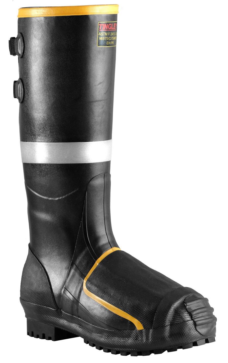 TINGLEY MB816B.15 16'' Steel Toe/Steel Midsole Metatarsal Boot, Size 15, Black