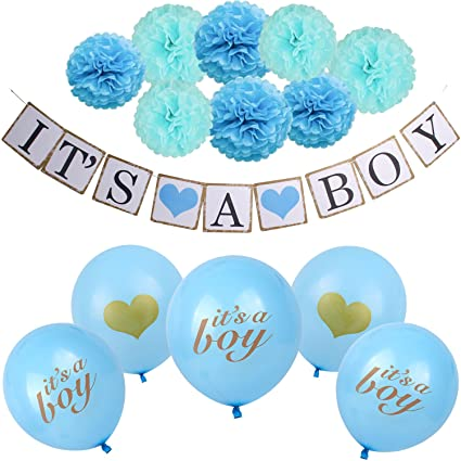Amazon Boy Baby Shower Decorations Kit 14 Pieces Party