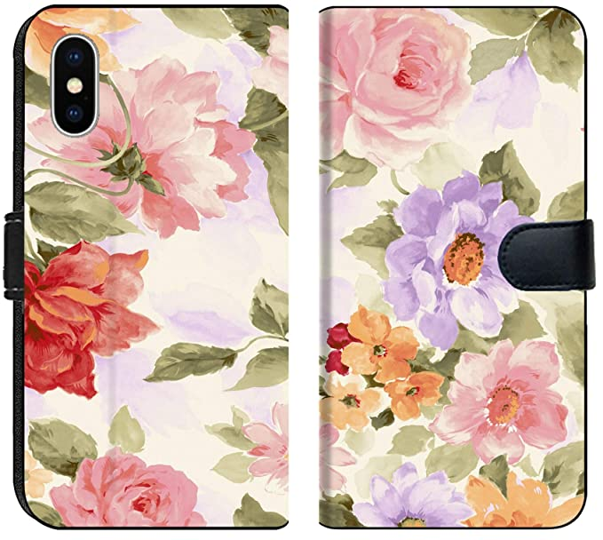 Amazon Com Apple Iphone Xs Max Flip Fabric Wallet Case