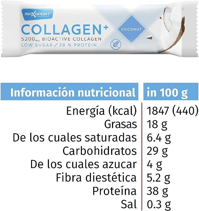 Caja de 18 unidades de nuestra barra nutritiva de colágeno 38 ...