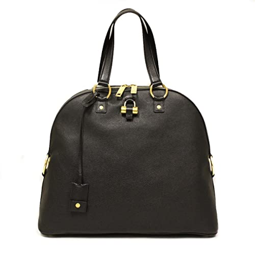 a544cc67e5b Saint Laurent Yves YSL Black Leather Oversized Muse Dome Satchel Top Handle  Shoulder Bag 368220: Amazon.co.uk: Shoes & Bags