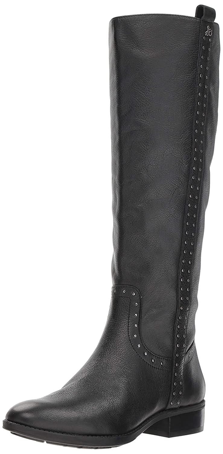 Black Leather Sam Edelman Womens Prina Knee High Boot