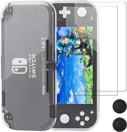 Funda Protectora para Nintendo Switch Lite, REDTRON Funda cómoda de TPU de Cristal con Protector de Pantalla de Vidrio Templado y Tapas de Agarre para la Consola Nintendo Switch Lite 2019: Amazon.es: