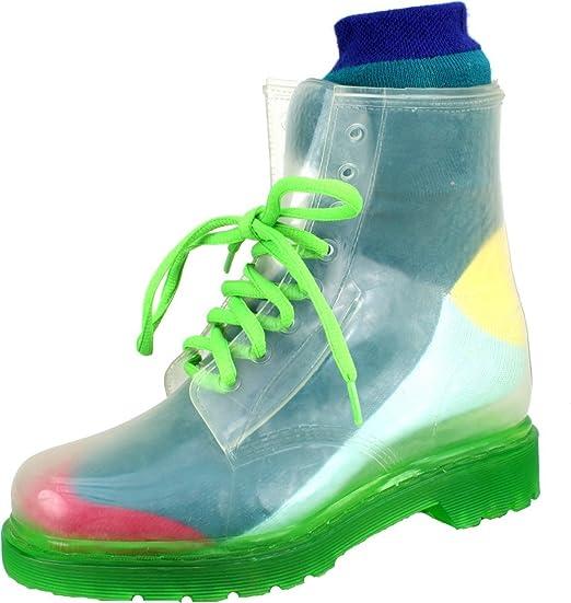 Bockstiegel Stivali di gomma da donna Rainbow trasparenti