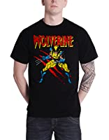 Officially Licensed Merchandise Marvel Comics Wolverine Scratches T-Shirt (Black)