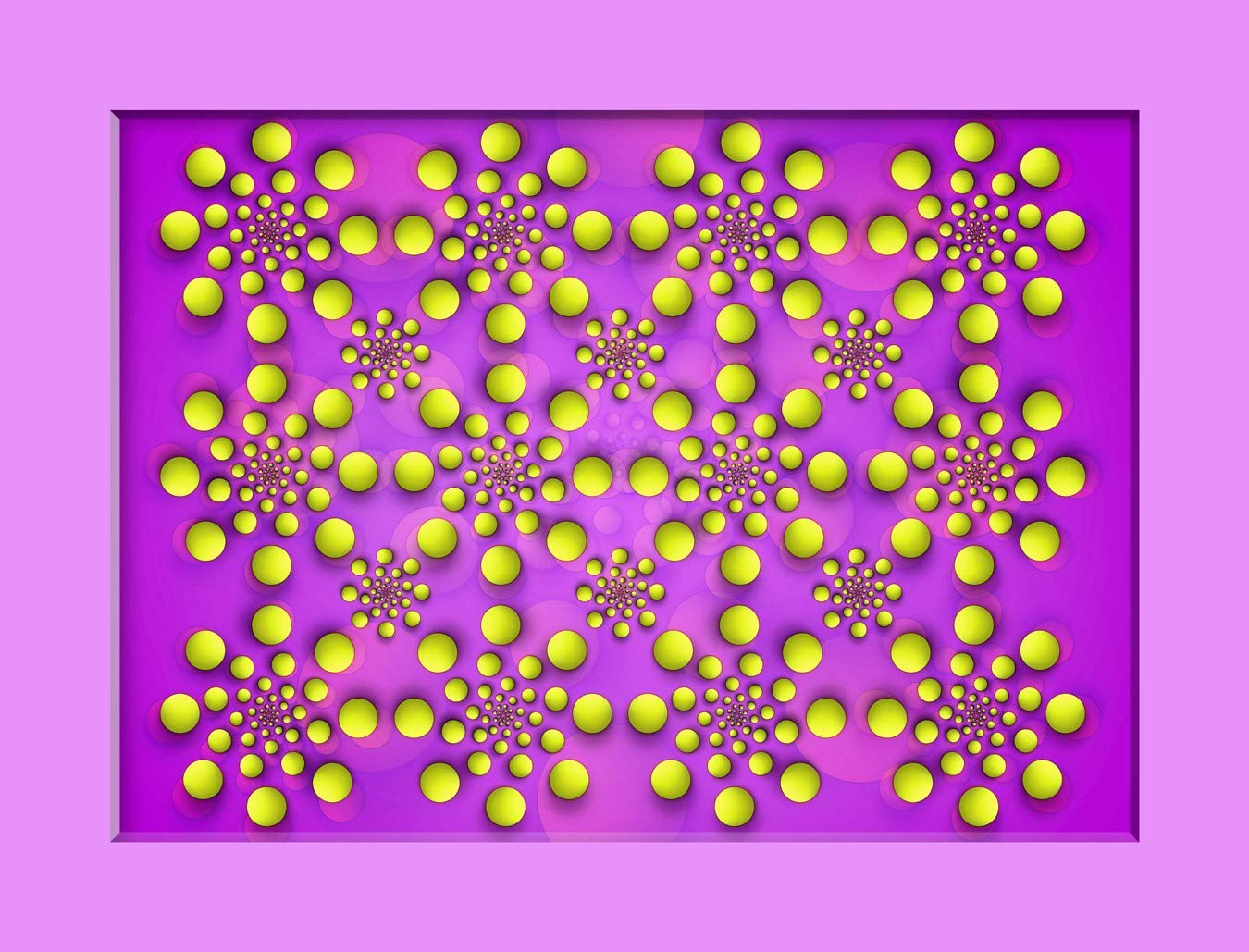 Optical Illusion :: Yellow Shapes Seams to be Moving. Laminated Poster