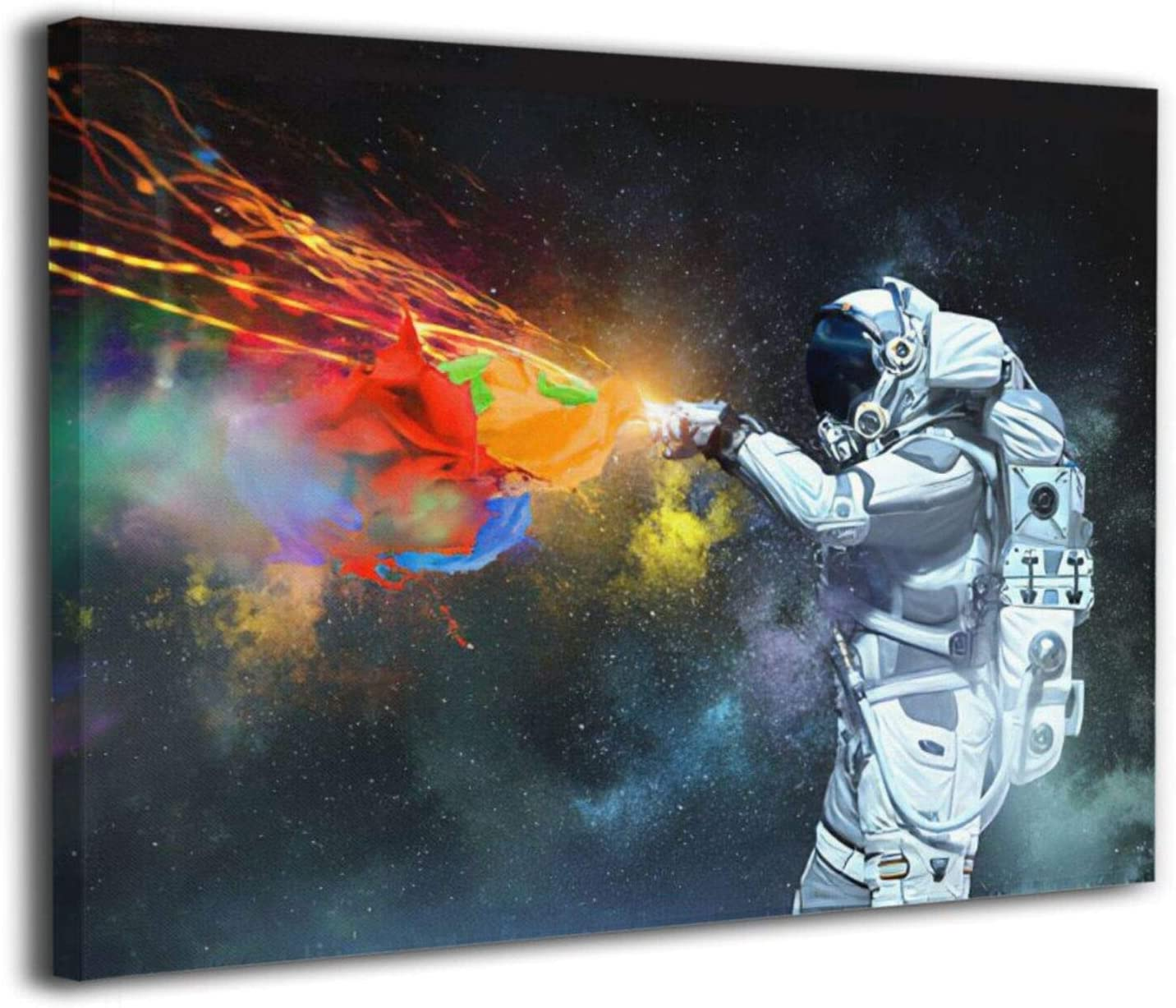 KING DARE Astronaut Space Adventure Planet Artwork Canvas Prints Framed Picture for Office Living Room Bathroom Poster Painting Home Decorations 12x16 Inch