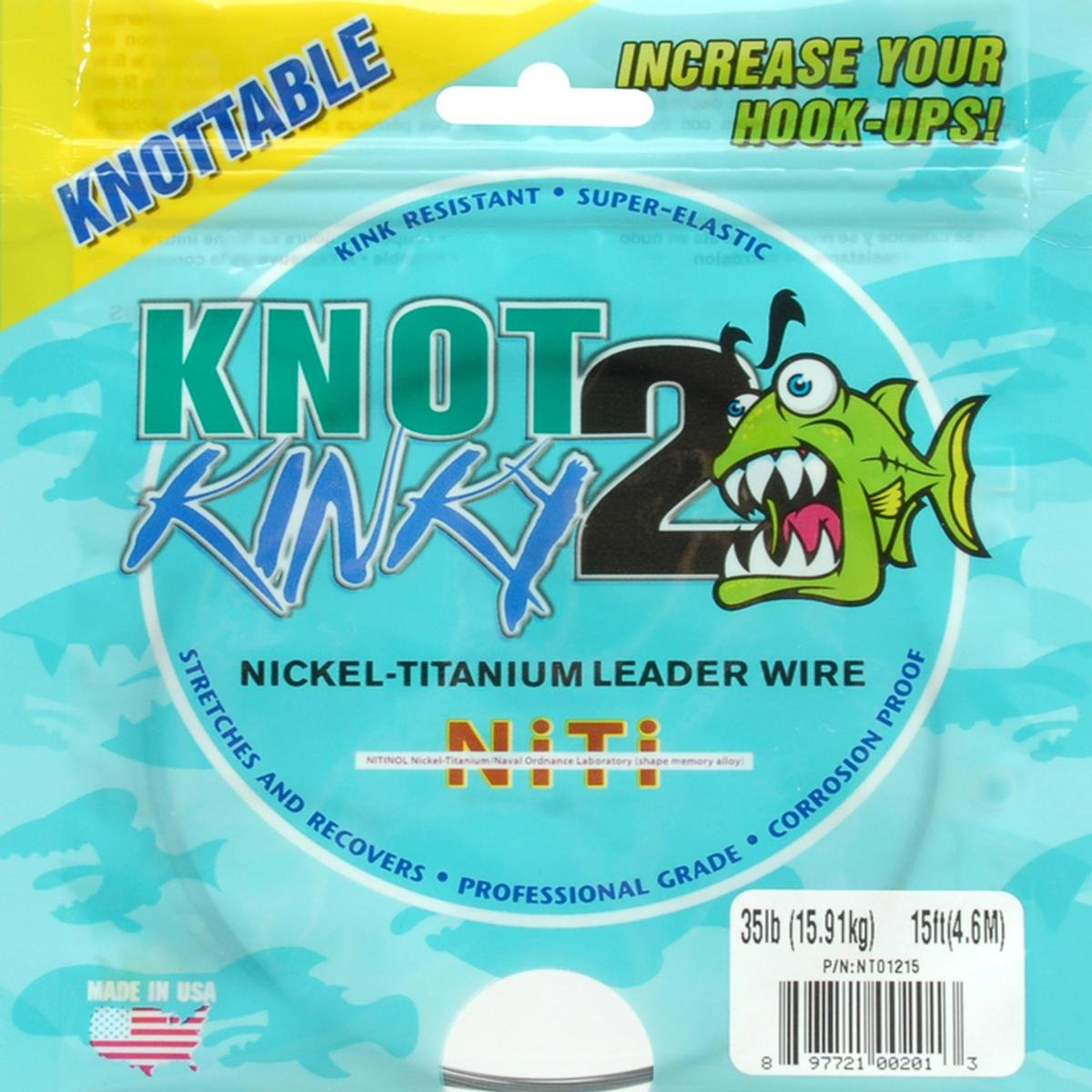 Amazon.com : American Fishing Wire Titanium Tooth Proof Single ...