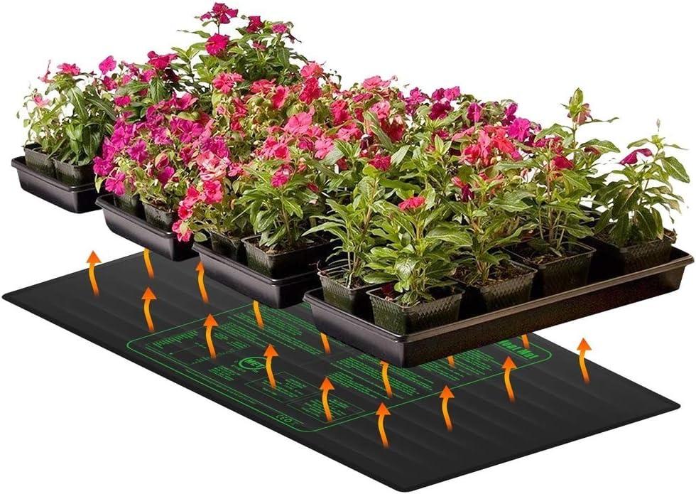 D&F Almohadilla térmica de plántulas de Reptiles,Manta Termica para Plantas de Semillero,Mantener la Raíz Cálidas Ayuda a la Germinación de Plantas en Días Fríos,100W de Potencia(48