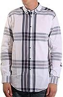 Voi Jeans Newick Long Sleeve Check Shirt White/Dark Blue