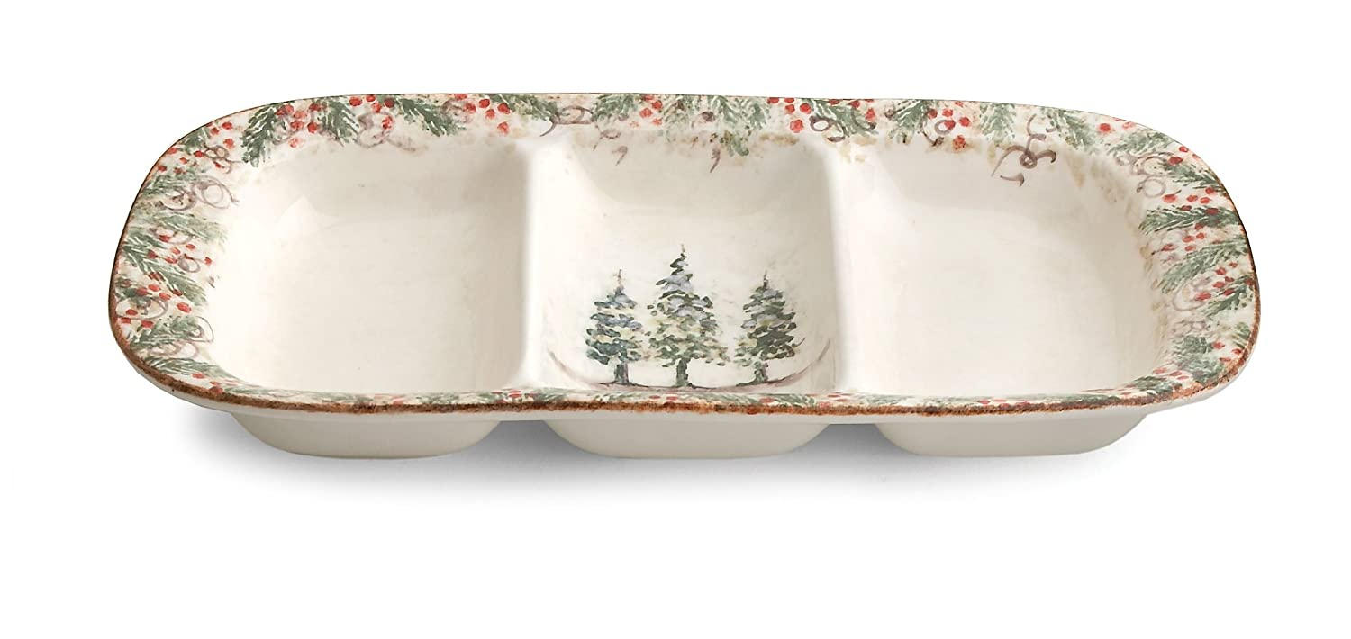 Christmas Tree Divided Serving Dishes